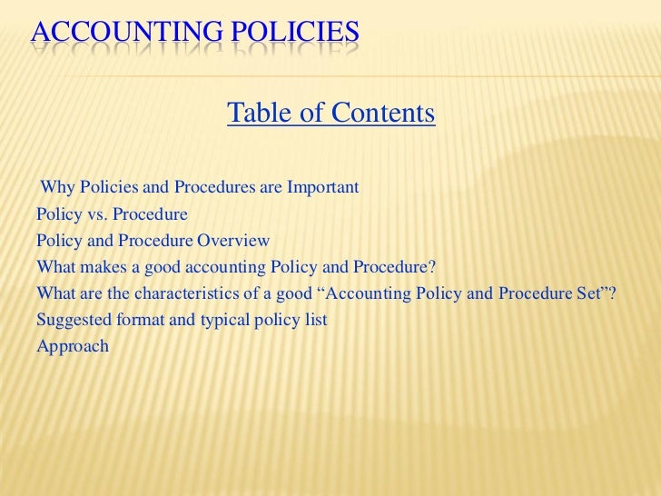 Accounting Policy Manual Template - Apigram.Com