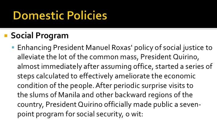 president manuel roxas essay Manuel roxas was a political leader and first president (1946–48) of the independent republic of the philippines synopsis manuel roxas was a part of the convention that.