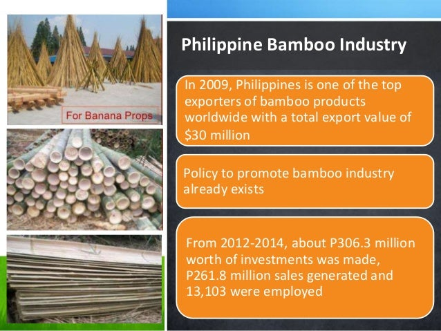 Policies In Support To Bamboo Sector Development The Philippine Exper