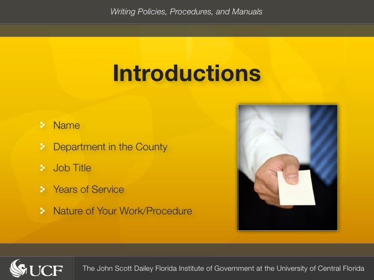 writing policies and procedures We'll show you how to pursue a career in human resources and effectively manage people get free sample policies, job descriptions, letters, interview questions, and.