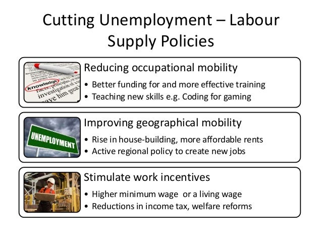 reducing unemployment While there certainly are some jobs created by new government spending compliance with government regulation, the key focus should be the number of net new jobs.