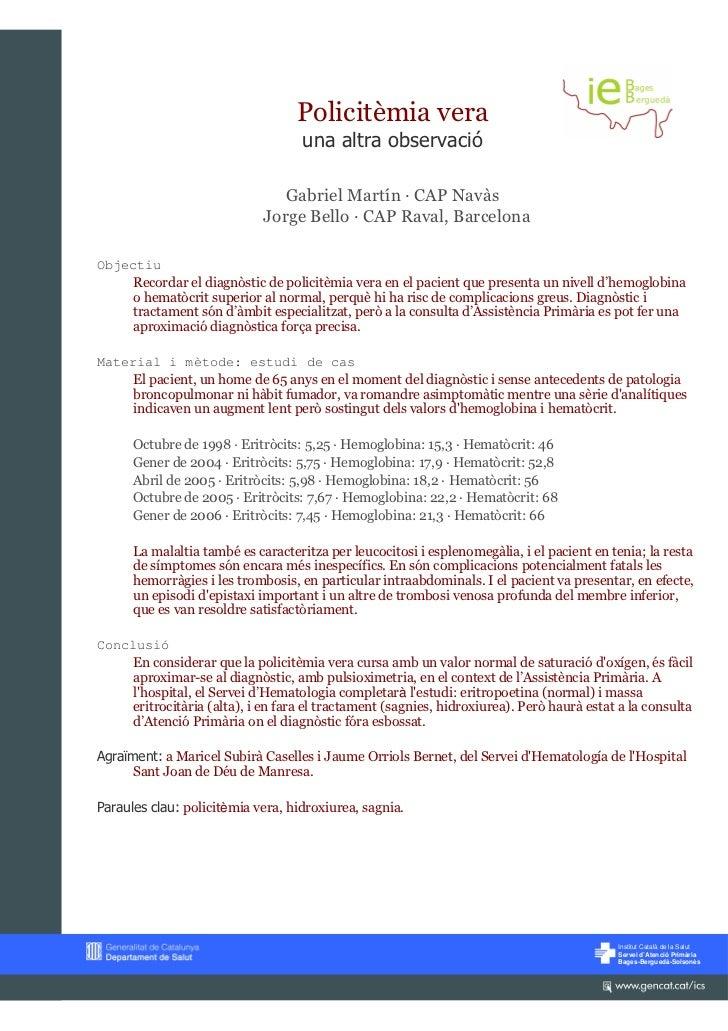 Policitèmia vera                                    una altra observació                                Gabriel Martín — C...