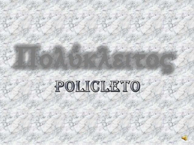 LA VITA DI POLICLETOBURCO ADRIELEIL CANONEDE LUCA FRANCESCOFUSIONE DEL BRONZOMARZIANO FEDERICOLE OPEREDE LUCA FRANCESCOMAR...