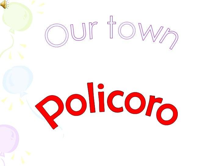 Our town Policoro