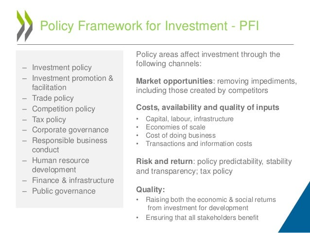 financial stability policy framework for investment