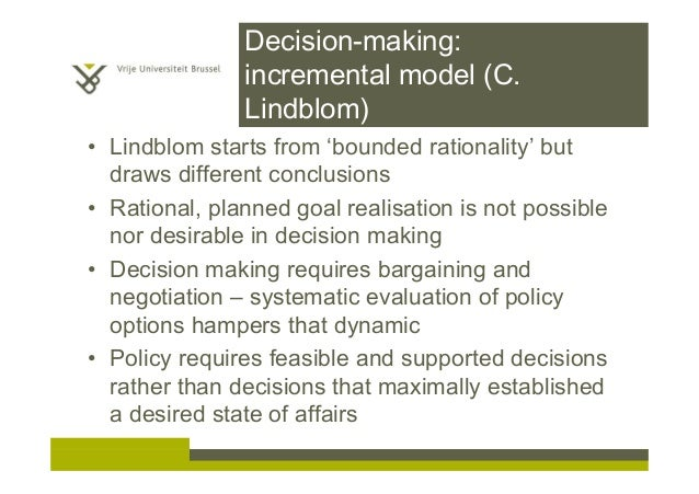 decision making incremental theory Empirical studies of decision making find that the process is more disorderly   this article begins with a theoretical  bargaining tactics, incremental strate.