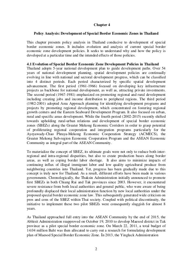 a study and analysis of thailands developing economy Economic development research group april 1997 © 1997 tradeoffs involved in selecting the right kind of techniques for assessing economic impacts of economic impact depends on the purpose of the analysis.