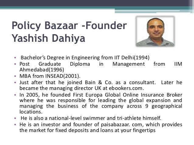 policy bazar.com journey its foundation