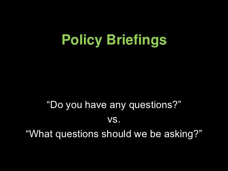 Policy Briefing
