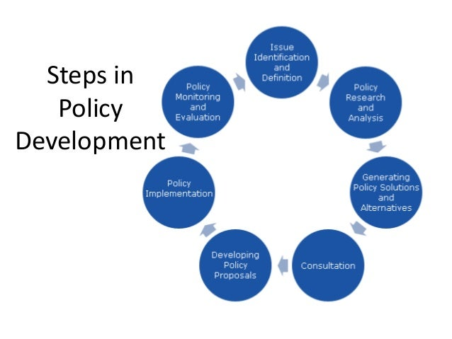 a discussion on the choice of policy instruments and policy development These are often referred to as policy instruments policy development the activity of developing policy generally involves research, analysis, consultation and.