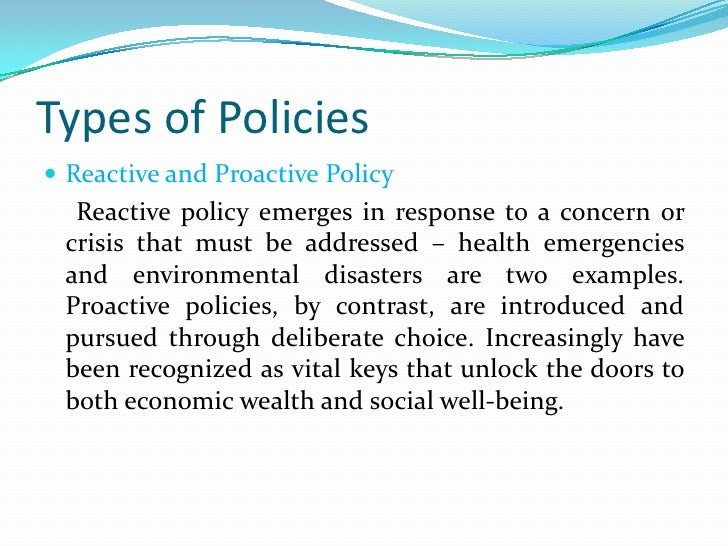 Examples Of Social Policy >> Policy Formulation And Processes