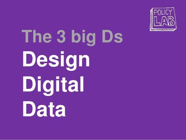 The 3 big Ds Design Digital Data