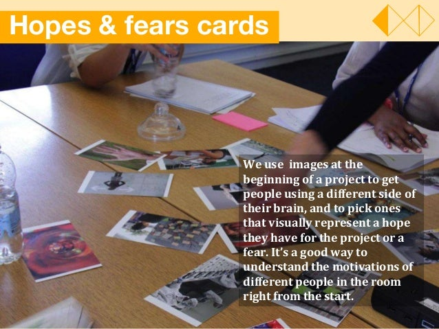 Hopes & fears cards We use images at the beginning of a project to get people using a different side of their brain, and t...