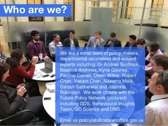 Who are we? We are a small team of policy-makers, departmental secondees and subject experts including: Dr Andrea Siodmok,...