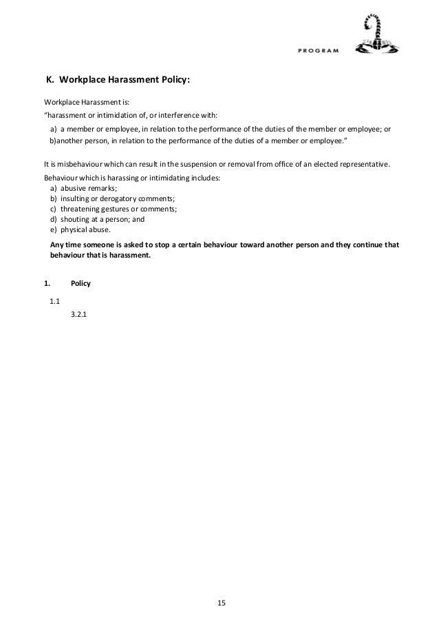 Policy & Procedure Manual (sample)