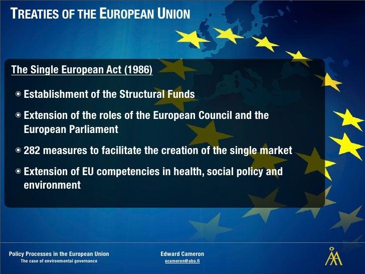 SINGLE EUROPEAN ACT 1986 PDF