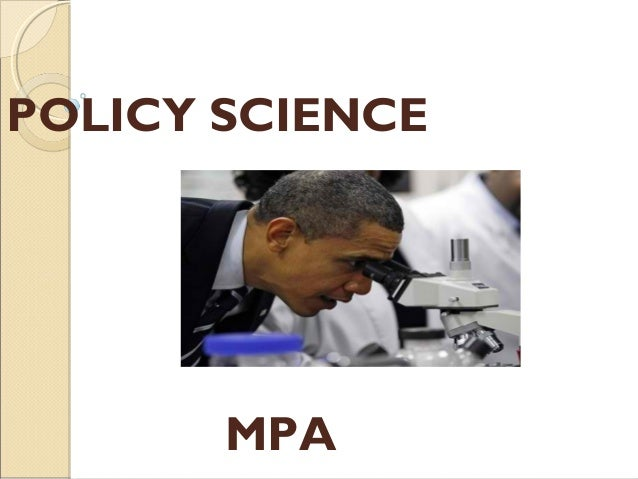 POLICY SCIENCE MPA