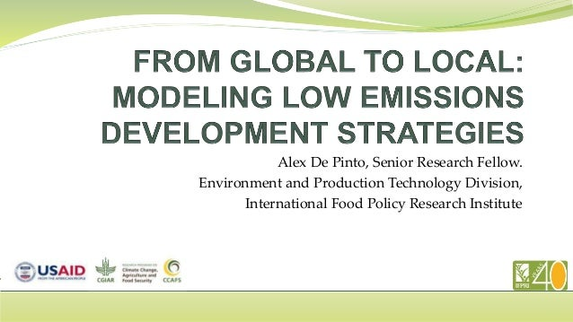 Alex De Pinto, Senior Research Fellow. Environment and Production Technology Division, International Food Policy Research ...