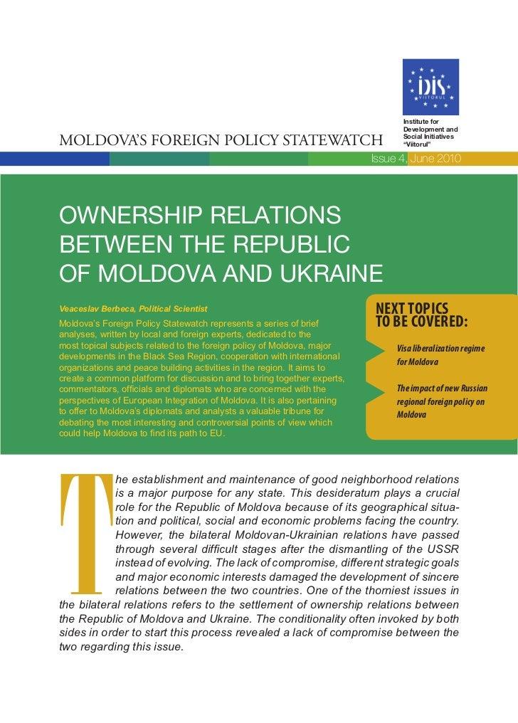 Institute for                                                                               Development andMoldova's Forei...