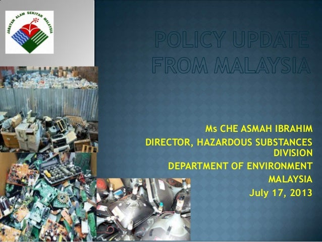 Policy Update on E-Waste in Malaysia