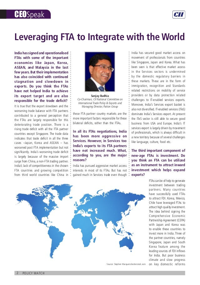 Policy Watch : India's Integration into the Global Economy Slide 2