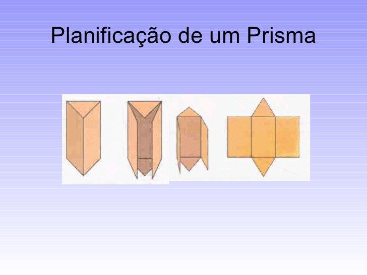 Resultado de imagem para planificação de prismas