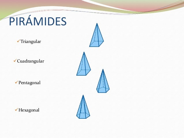 PIRÁMIDES TriangularCuadrangularPentagonalHexagonal