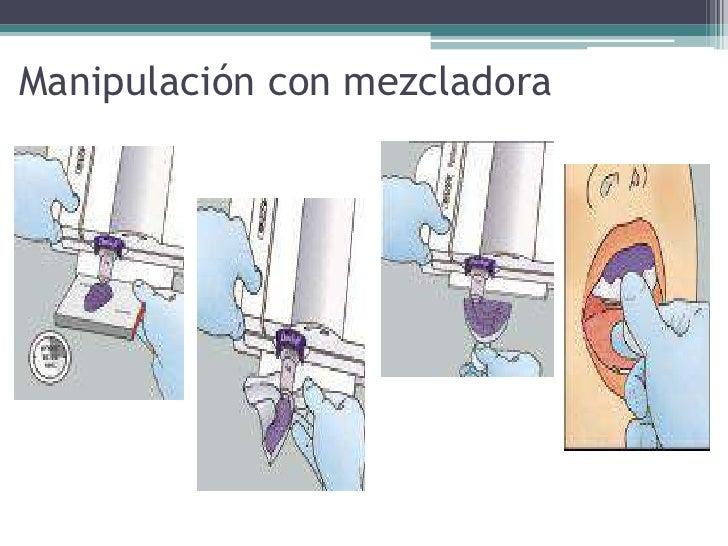 Manipulación con mezcladora<br />