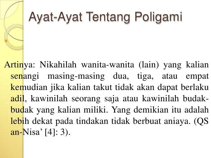 ayat poligami tentang menikahi 4 wanita dalam al quran nikahilah wanita satu dua tiga atau empat