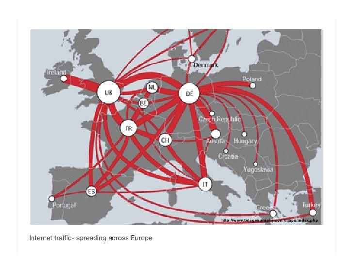 <ul><li>Internet traffic- spreading across Europe  </li></ul>http://www.telegeography.com/maps/index.php