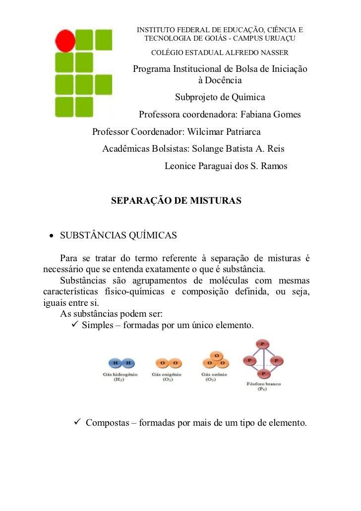 INSTITUTO FEDERAL DE EDUCAÇÃO, CIÊNCIA E                        TECNOLOGIA DE GOIÁS - CAMPUS URUAÇU                       ...