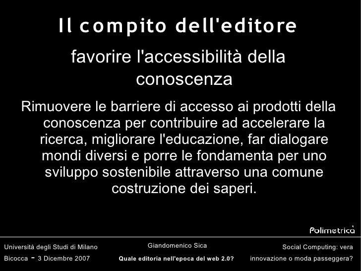 Quale editoria nell'epoca del web 2.0? Slide 2