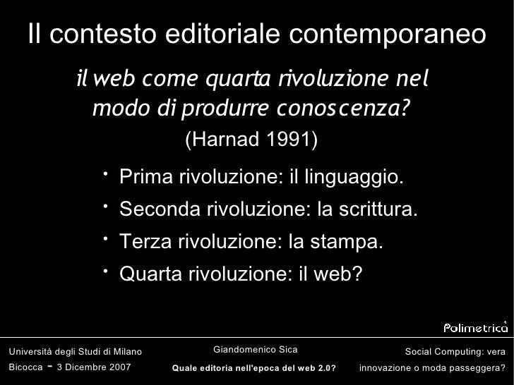 Quale editoria nell'epoca del web 2.0? Slide 3