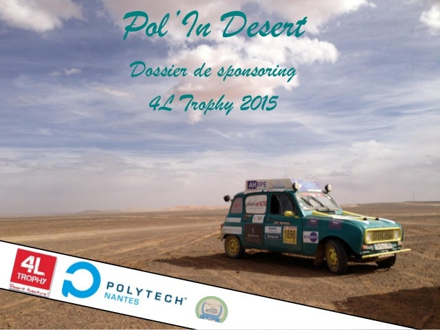 Pol'In Desert Dossier de sponsoring 4L Trophy 2015