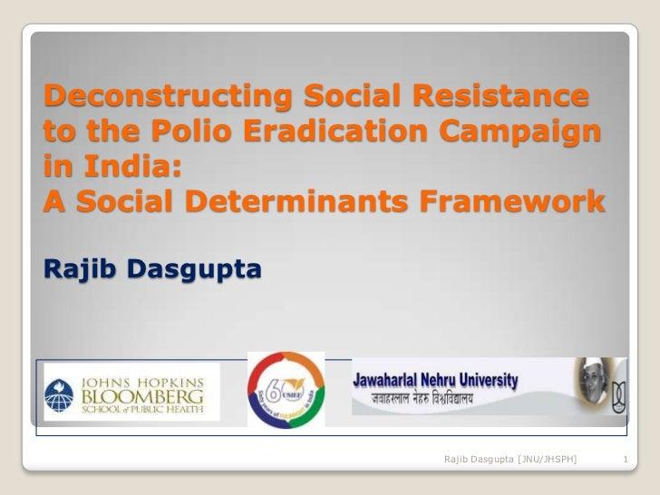 Deconstructing Social Resistance to the Polio Eradication Campaign in India: A Social Determinants FrameworkRajib Dasgupta...