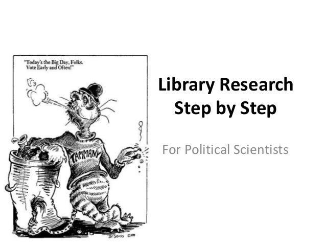 Library Research Step by Step For Political Scientists