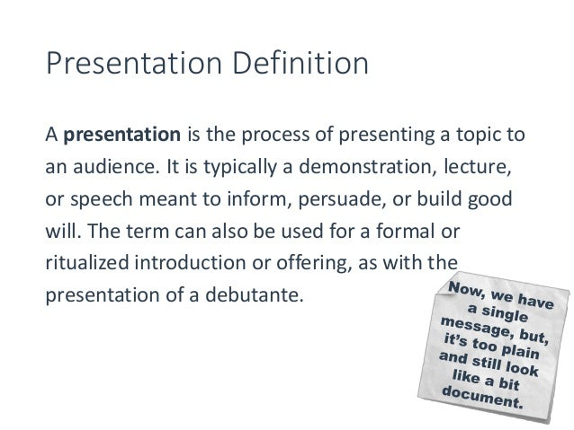 how to make ugly slides beautiful presentation definition
