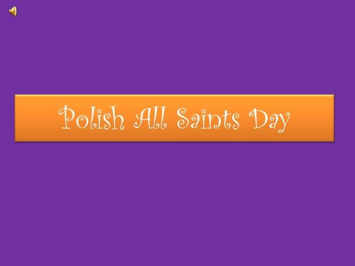 Polish All Saints Day