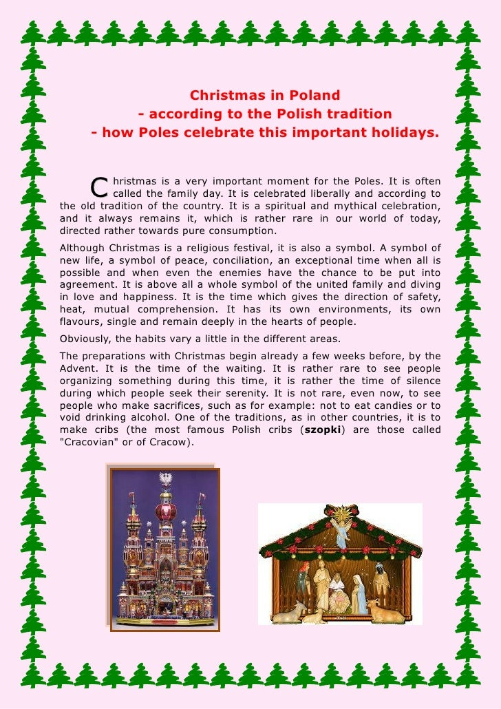 Christmas in Poland - according to the Polish tradition - how      Poles celebrate this important holidays.Christmas is a ...