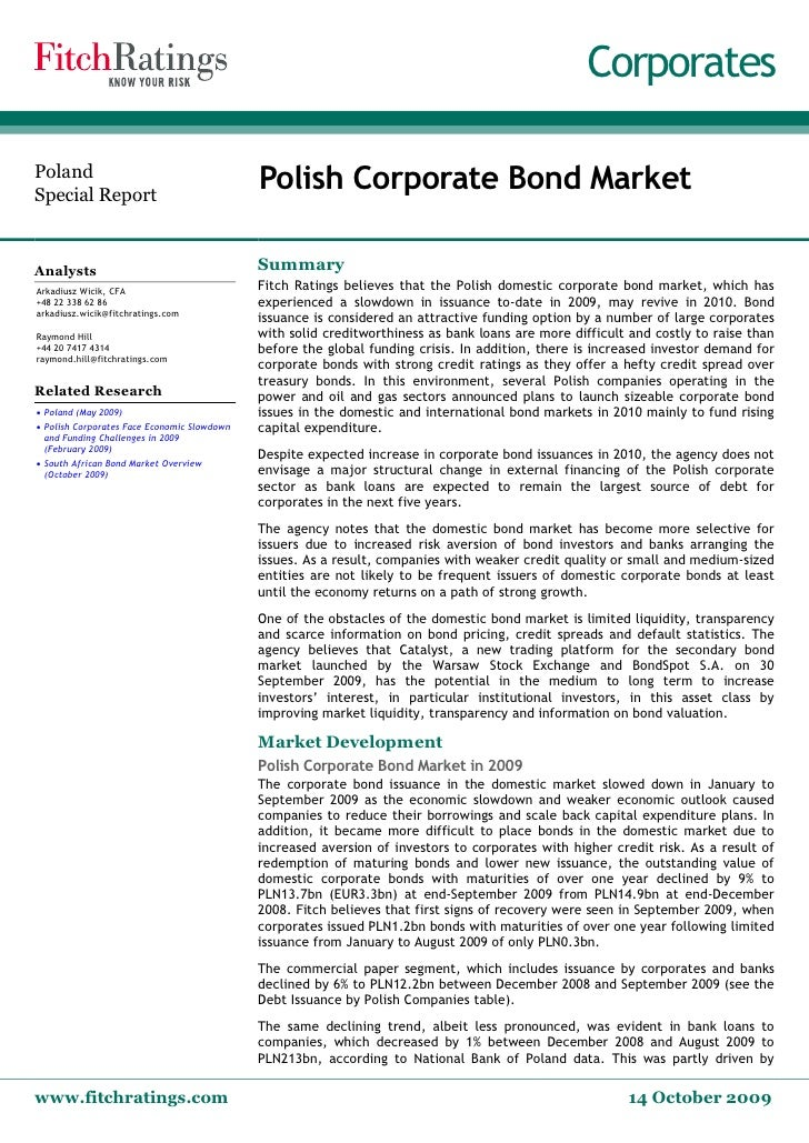 Corporates   Poland  Special Report                                               Polish Corporate Bond Market   Analysts ...