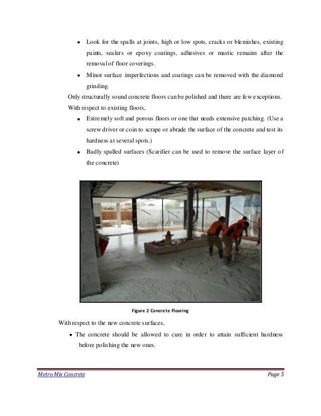 Polished Concrete Flooring Metro Mix Concrete
