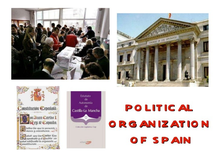 POLITICAL  ORGANIZATION  OF SPAIN
