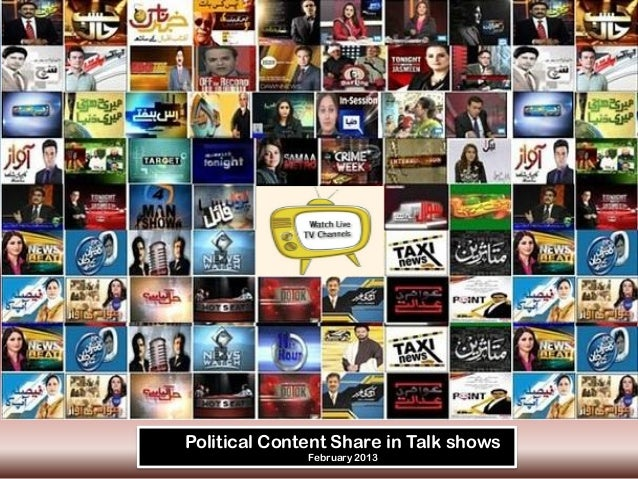 Political Content Share in Talk shows              February 2013