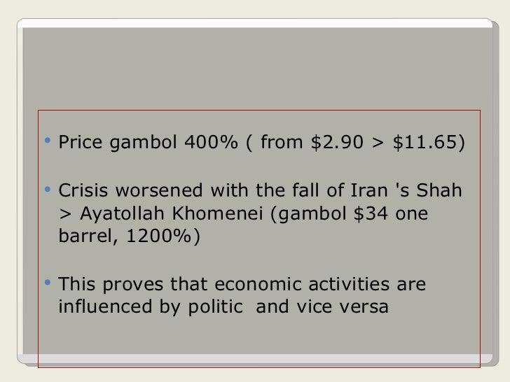 <ul><li>Price gambol 400% ( from $2.90 > $11.65) </li></ul><ul><li>Crisis worsened with the fall of Iran 's Shah > Ayatoll...