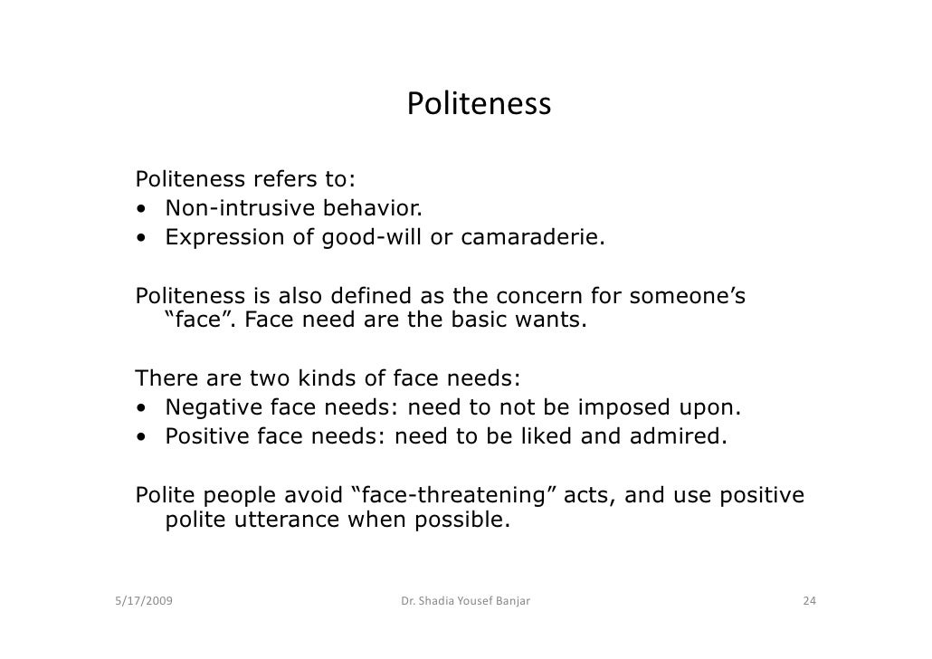 Politeness Maxims Essay