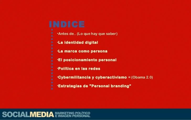 Marketing Político y personal en Redes Sociales Slide 3