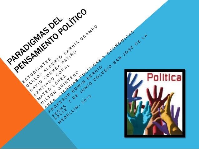 ¿QUÉ ES POLÍTICA? La política es la base de toda sociedad libre, la cual sirve como mediadora delos problemas que posea u...