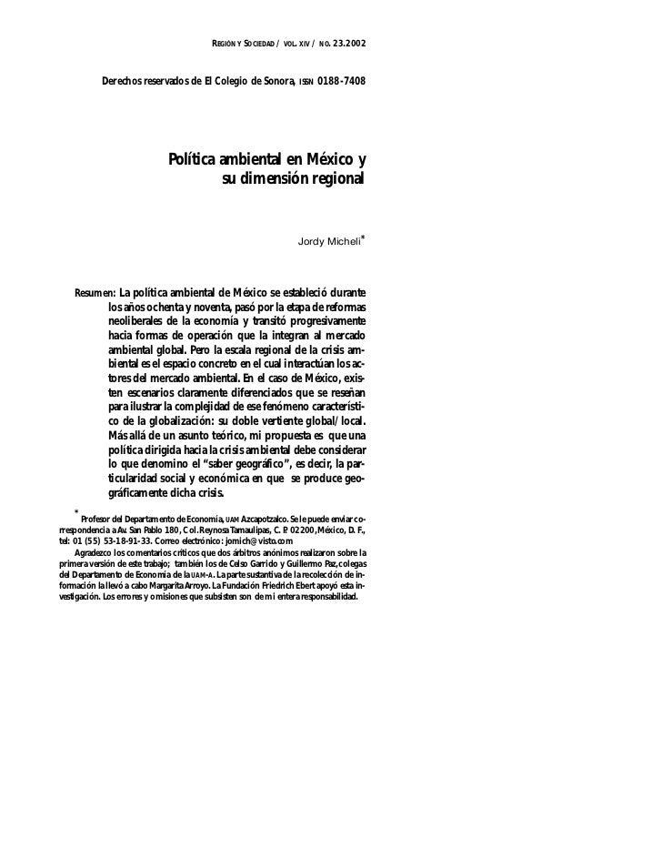 REGIÓN Y SOCIEDAD / VOL. XIV / NO. 23.2002            Derechos reservados de El Colegio de Sonora, ISSN 0188-7408         ...