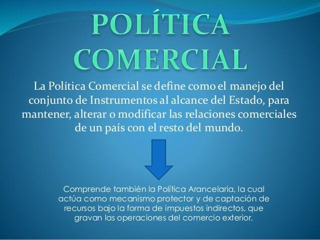 Politica comercial internacional for Que es politica internacional