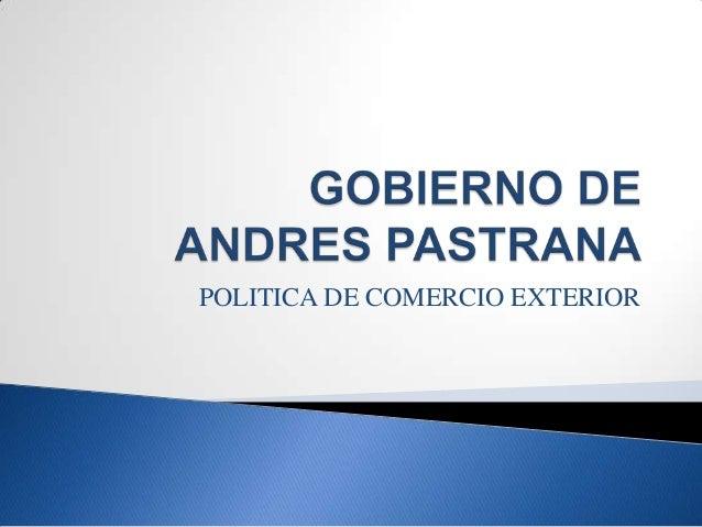 POLITICA DE COMERCIO EXTERIOR